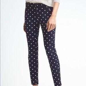 Banana Republic Sloan pants with polka dots
